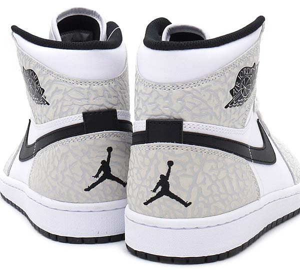 NIKE AIR JORDAN 1 RETRO HIGH [WHITE / BLACK-PURE PLATINUM] 839115-106