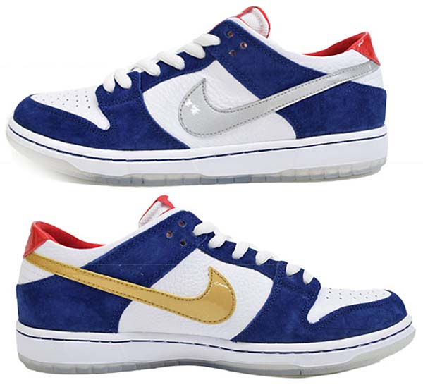 NIKE SB DUNK LOW PRO IW QS [DEEP ROYAL BLUE / METALLIC SILVER-UNIVERSITY RED] 839685-416