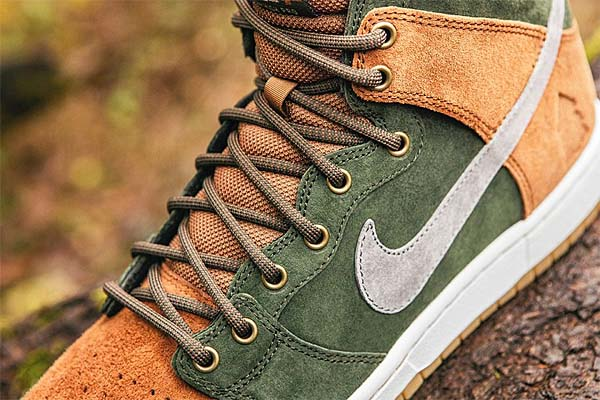 NIKE SB DUNK HIGH PREMIUM HOMEGROWN [SEQUOIA / COOL GREY-ALE BROWN] 839693-302