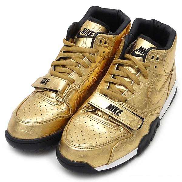 NIKE AIR TRAINER 1 PRM QS NFL SUPER BOWL [METARIC GOLD / MTLLC GOLD-BLAK] 840169-700
