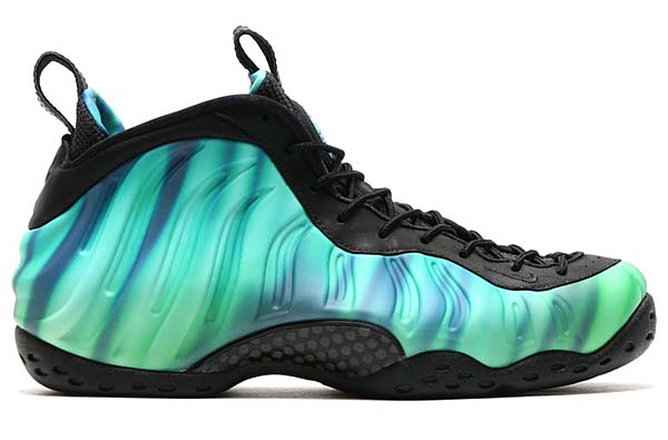 NIKE AIR FOAMPOSITE ONE PRM AS QS [BLACK / GREEN GLOW-FIERCE PURPLE] 840559-001