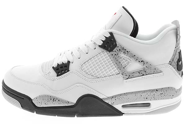 NIKE AIR JORDAN 4 RETRO OG [WHITE / FIRE RED-BLACK-TECH GREY] 840606-192