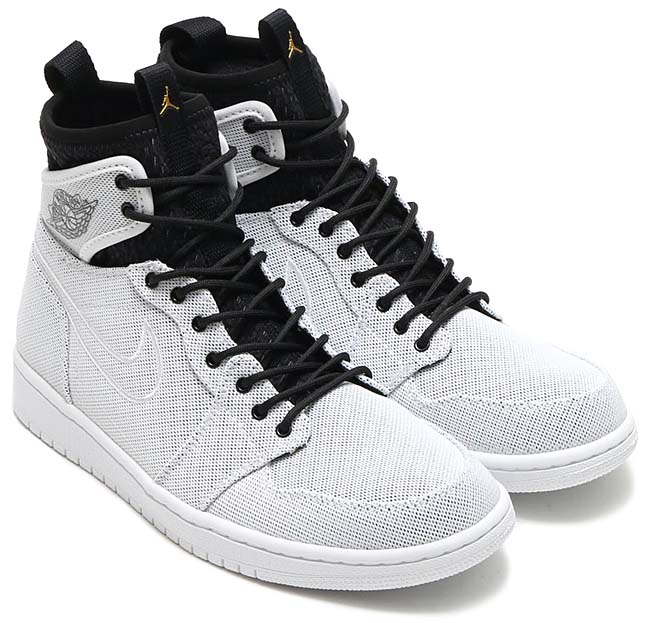 NIKE AIR JORDAN 1 RETRO ULTRA HIGH [WHITE / METALLIC GOLD COIN-BLACK-PURE PLATINUM-INFRARED 23] 844700-132