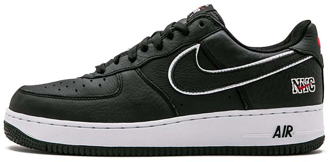 NIKE AIR FORCE 1 LOW NYC [BLACK / WHITE-UNIVERSITY RED] 845053-002