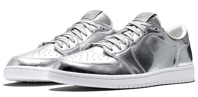 NIKE AIR JORDAN 1 LOW OG PINNACLE [METALLIC SILVER / WHITE] 852549-003