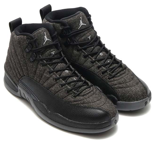 NIKE AIR JORDAN 12 RETRO [DK GREY / MTLC SILVER-BLACK] 852627-003