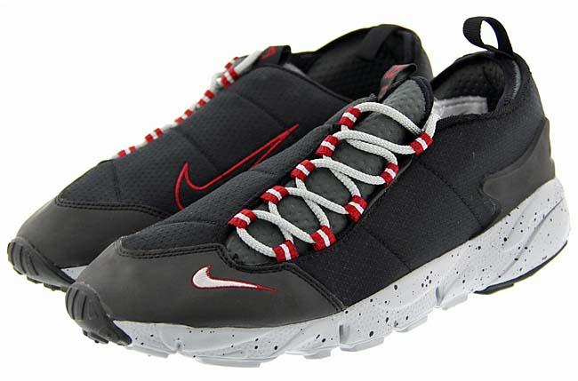 NIKE AIR FOOTSCAPE NM [BLACK / WOLF GREY-WOLF GREY-DARK GREY-VALIANT RED] 852629-001