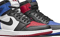 NIKE AIR JORDAN 1 RETRO HIGH OG TOP3 [BLACK / VARSITY RED / VARSITY ROYAL] (555088-026)
