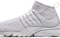 NIKE AIR PRESTO FLYKNIT ULTRA [WHITE / WHITE-WHITE-TOTAL CRIMSON-WOLF GREY] (835570-100)