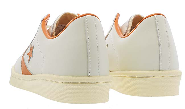 CONVERSE PRO LEATHER OX [WHITE / ORANGE] 32649542