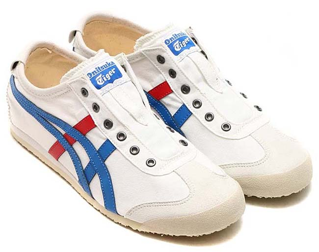 Onitsuka Tiger MEXICO 66 SLIP-ON [WHITE / TRICOLOR] th1b2n-0143