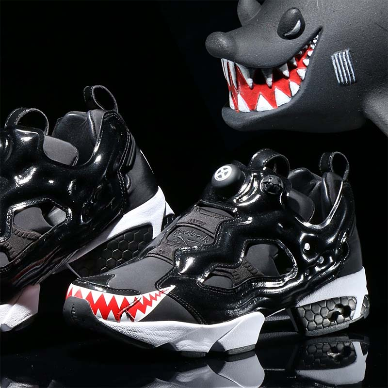"Reebok x atmos x BOUNTY HUNTER INSTAPUMP FURY OG BH ""Sameru-Kun"" [BLACK/WHITE/RED] cm8717"