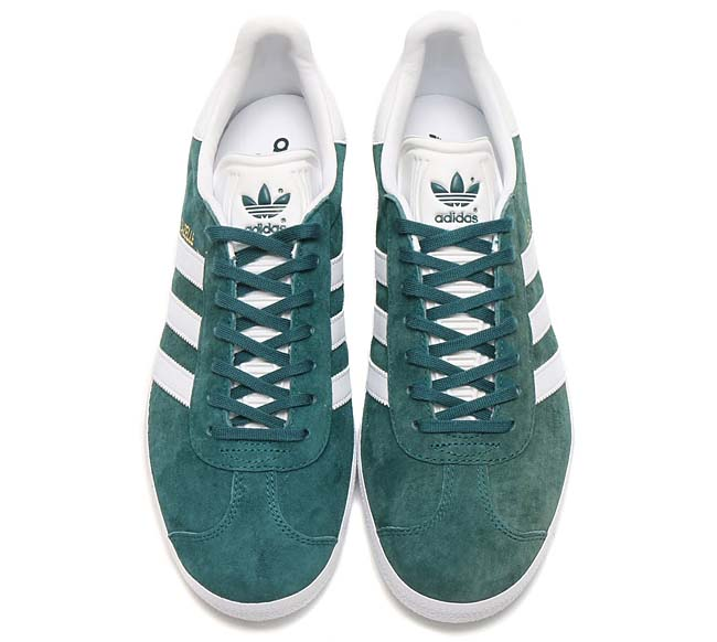 adidas Originals GAZELLE [MYSTERY GREEN / RUNNING WHITE / GOLD MET] BB5253