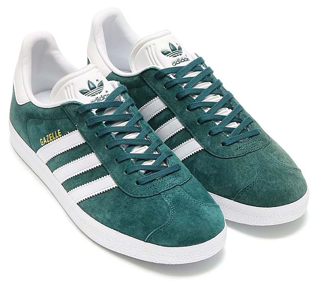 adidas Originals GAZELLE [MYSTERY GREEN / RUNNING WHITE / GOLD MET] BB5253