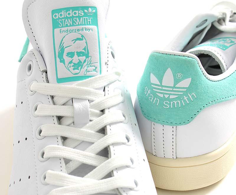 adidas Originals STAN SMITH [RUNNING WHITE / RUNNING WHITE / ENERGY AQUA] BZ0461