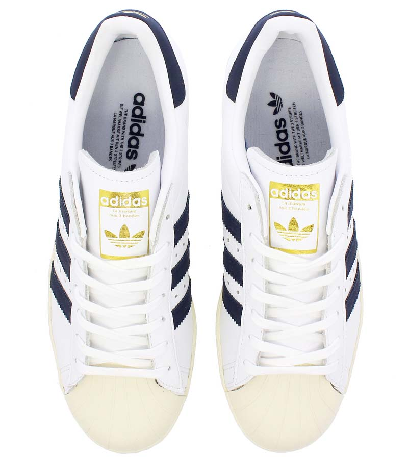 adidas SUPER STAR [RUNNING WHITE / TRACE BLUE / GREY] bz0145