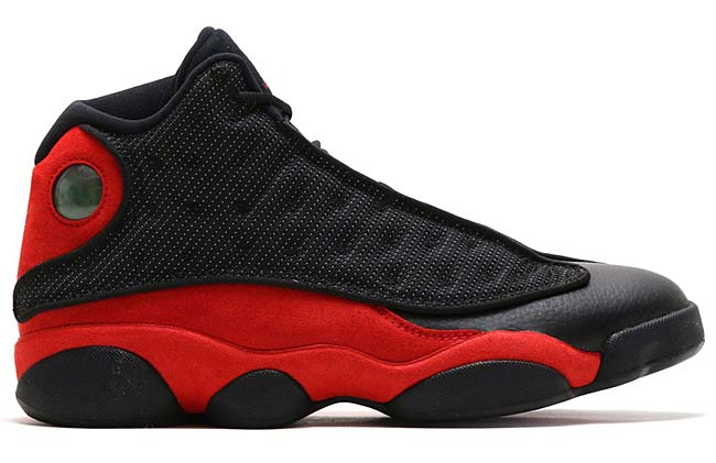 NIKE AIR JORDAN 13 RETRO [BLACK / TRUE RED-WHITE] 414571-004