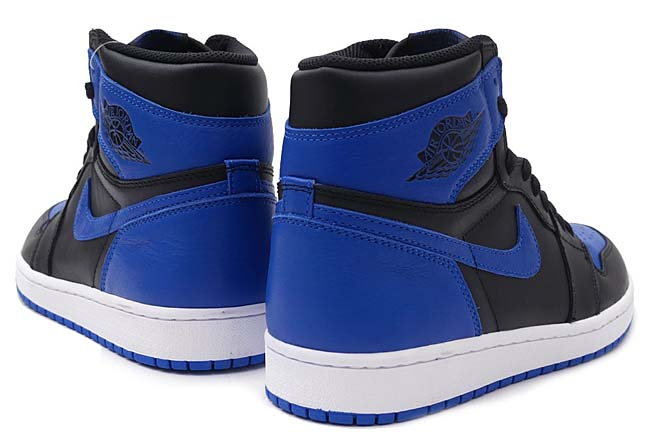 "NIKE AIR JORDAN 1 RETRO HI OG ""ROYAL"" [BLACK / VERSITY ROYAL WHITE] 555088-007"