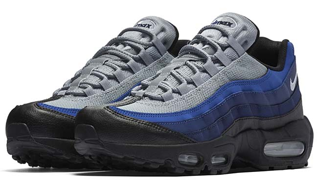 NIKE AIR MAX 95 ESSENTIAL [BLACK / WHITE-BINARY BLUE-DEEP ROYAL] 749766-023