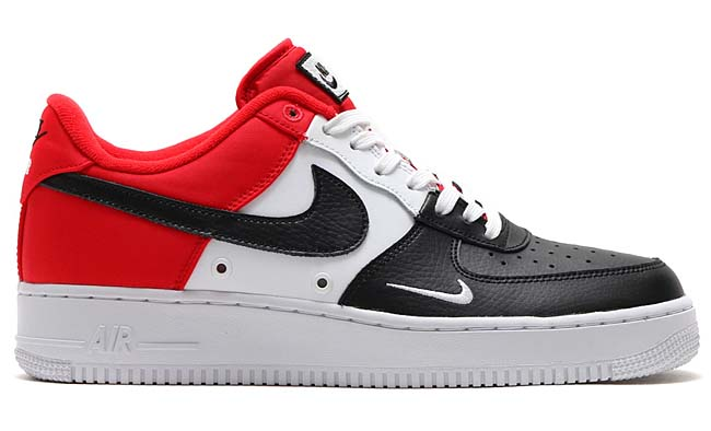 NIKE AIR FORCE 1 07 LV8 [UNIVERSITY RED / BLACK-WHITE-PURE PLATINUM] 823511-603