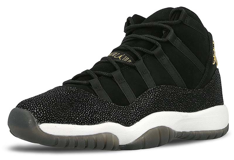 NIKE AIR JORDAN 11 RETRO PREM HC [BLACK / METALLIC GOLD-WHITE-INFRARED 23] 852625-030