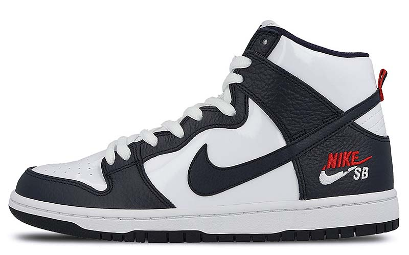 NIKE SB ZOOM DUNK HIGH PRO [OBSIDIAN / WHITE / UNIVERSITY RED] 854851-441