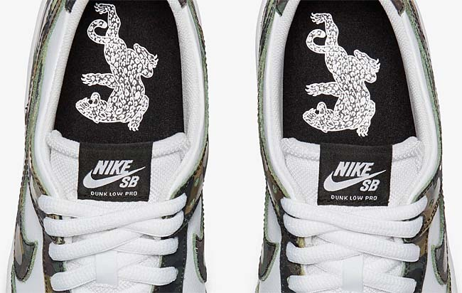 NIKE SB DUNK LOW PRO CAMO [LEGION GREEN / WHITE-BLACK] 854866-331