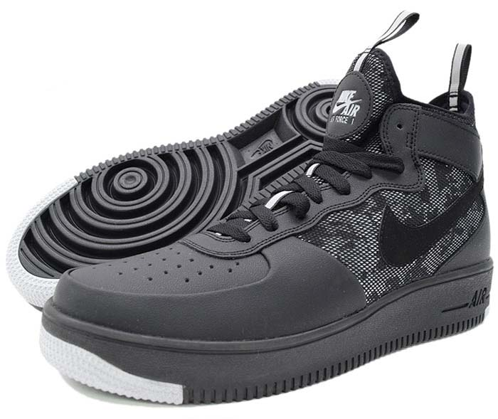 NIKE AIR FORCE 1 ULTRAFORCE MID [BLACK / WOLF GREY / WHITE] 864014-004