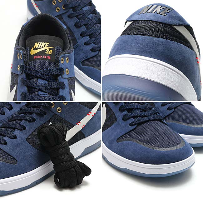 "NIKE SB ZOOM DUNK LOW ELITE QS ""SEAN MALTO"" [MIDNIGHT NAVY / WHITE-UNIV RED] 877063-416"