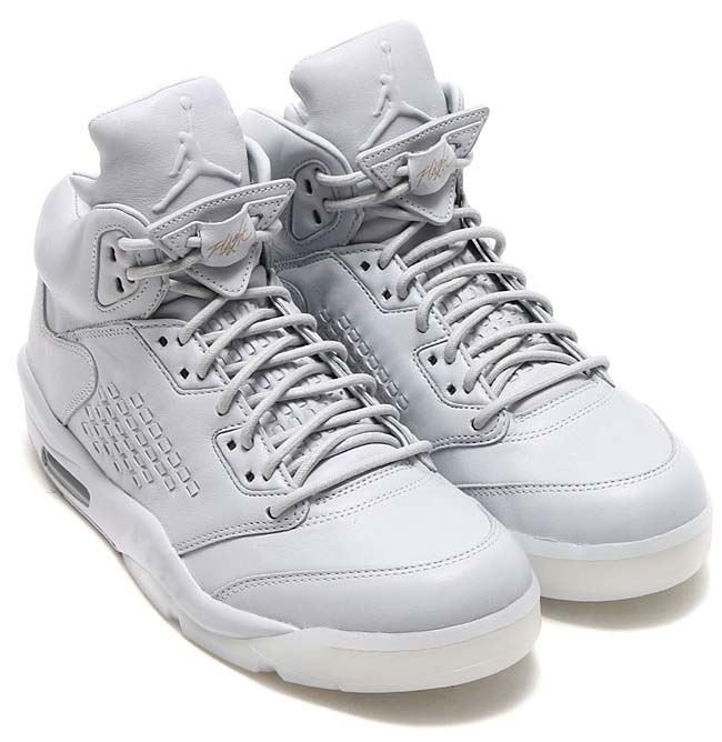 NIKE AIR JORDAN 5 RETRO PREM [PURE PLATINUM/PURE PLATINUM] 881432-003