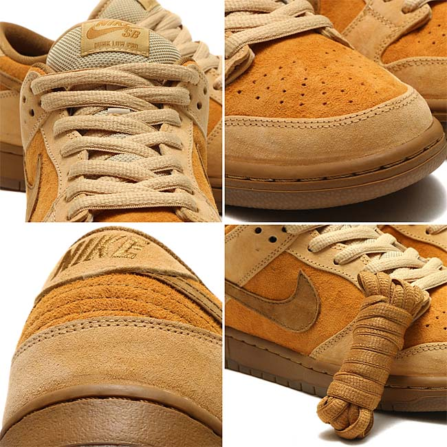 """NIKE SB DUNK LOW TRD QS """"REESE FORBES""""[DUNE / TWIG-WHEAT-GUM MED BROWN] 883232-700"""