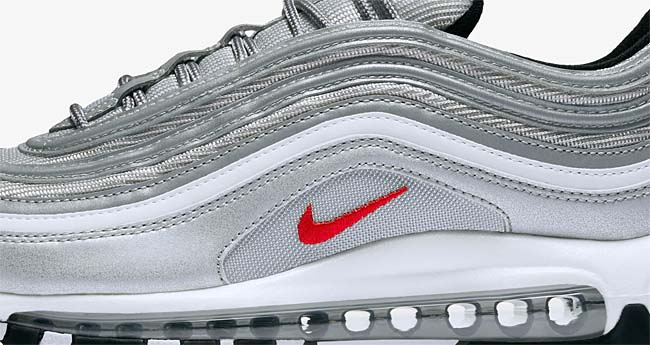 NIKE AIR MAX 97 OG QS [METALLIC SILVER / VARSITY RED] 884421-001
