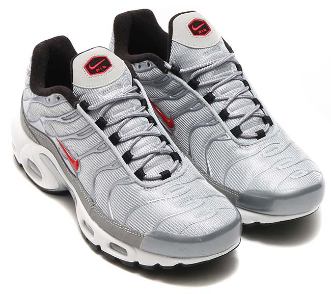 NIKE AIR MAX PLUS QS [METALLIC SILVER / UNIVERSITY RED] 903827-001