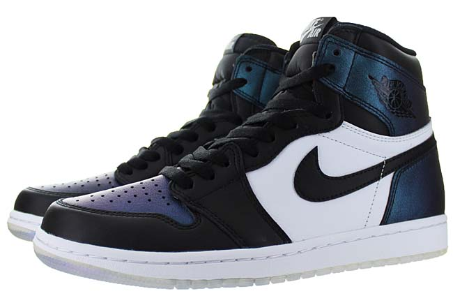 NIKE AIR JORDAN 1 RETRO HIGH OG ASW [BLACK / BLACK-METALLIC SILVER-WHITE] 907958-015