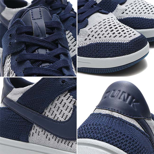NIKE DUNK FLYKNIT [COLLEGE NAVY / WOLF GREY-PURE PLATINUM-BLACK] 917746-400