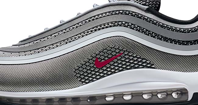 NIKE AIR MAX 97 ULTRA 17 [METALLIC SILVER / ARSITY RED] 918356-003