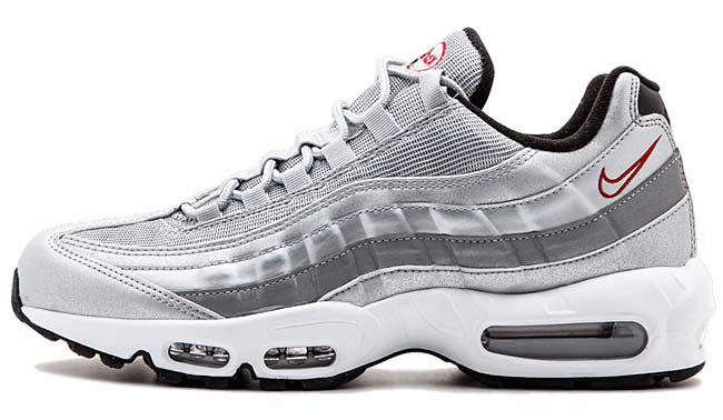NIKE AIR MAX 95 PREMIUM QS [METALLIC SILVER/VARSITY RED-BLACK-WHITE] 918359-001