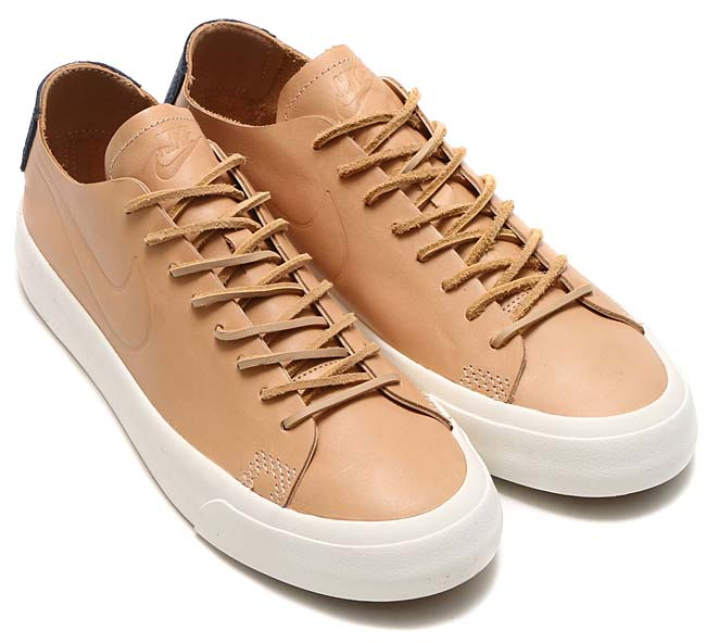 NIKE BLAZER STUDIO LOW AS QS [VACHETTA TAN / VACHETTA TAN-SAIL-GUM LIGHT BROWN] 920366-200
