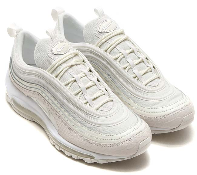 "NIKE AIR MAX 97 PRM ""SUMMER SCALES"" [SUMMIT WHITE / SUMMIT WHITE] 921826-100"