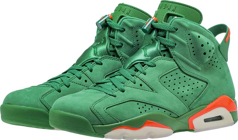 2845654f2c1d69 NIKE AIR JORDAN 6 RETRO NRG G8RD  PINE GREEN   PINE GREEN-ORANGE BLAZE