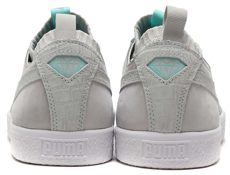 PUMA CLYDE SOCK LO DIAMOND [GLACIER GRAY] 365653-02