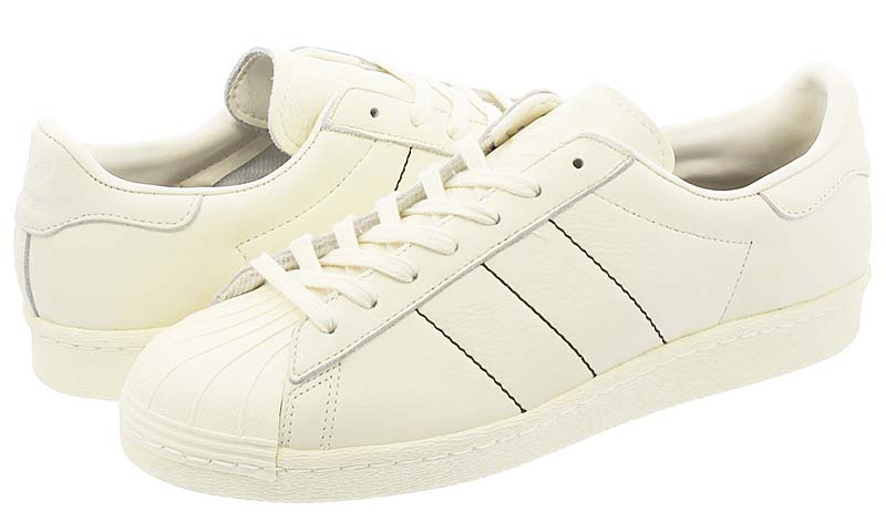adidas SUPERSTAR 80s [CREAM WHITE /CREAM WHITE/CREAM WHITE] b38000 アディダス スーパースター 80s 「クリームホワイト」