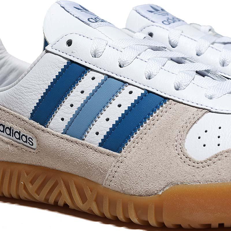 adidas INDOOR COMP SPZL [RUNNING WHITE / CLEAR BROWN / BLUE] b41820 アディダス インドア コンプ SPZL 「ホワイト/ブルー/ガム」