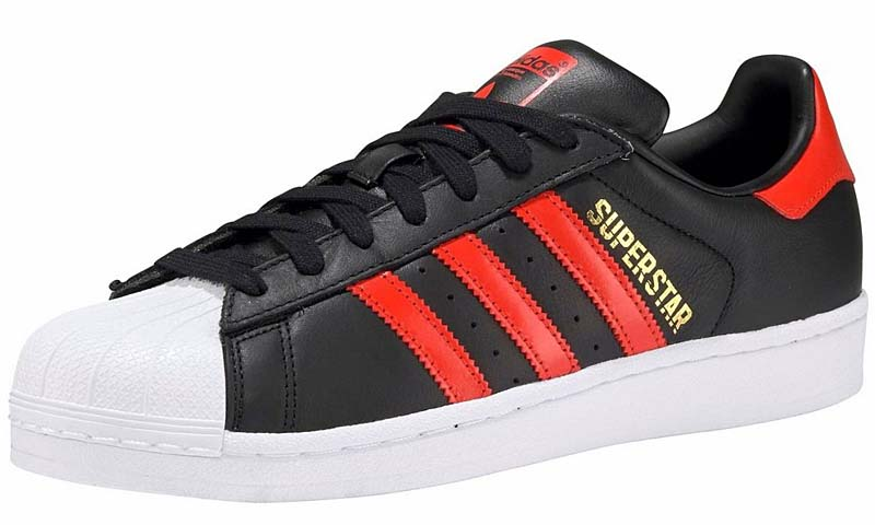 adidas SUPERSTAR [CORE BLACK / BOLD ORANGE / RUNNING WHITE] b41994 アディダス スーパースター 「ブラック/レッド」