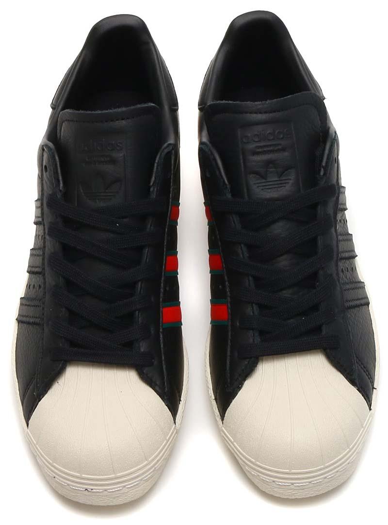 adidas Originals SUPERSTAR 80s [CORE BLACK / GREEN / RED] cq2656