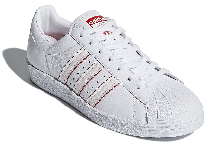 adidas Originals SUPERSTAR 80s CNY 2018 [RUNNING WHITE / RUNNING WHITE / SCARLET] db2569