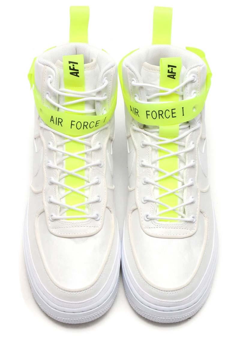 "MAGIC STICK x NIKE AIR FORCE 1 HIGH '07 QS ""VIP"" [WHITE / WHITE-VOLT-BLACK] 573967-101"