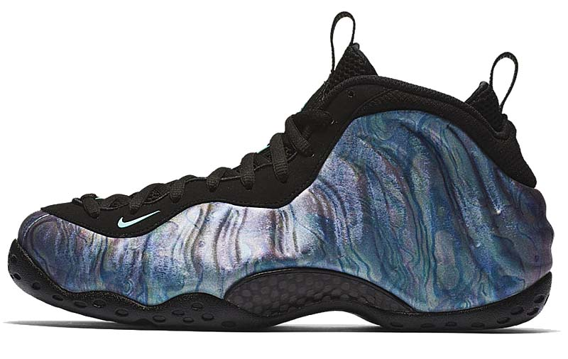 NIKE AIR FOAMPOSITE ONE PRM [BLACK / AURORA GREEN-BLK-ARR GRN] 575420-009