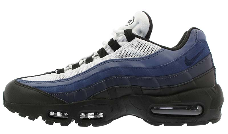 NIKE AIR MAX 95 ESSENTIAL [BLACK / OBSIDIAN / NAVY BLUE / PURE PLATINUM] 749766-028