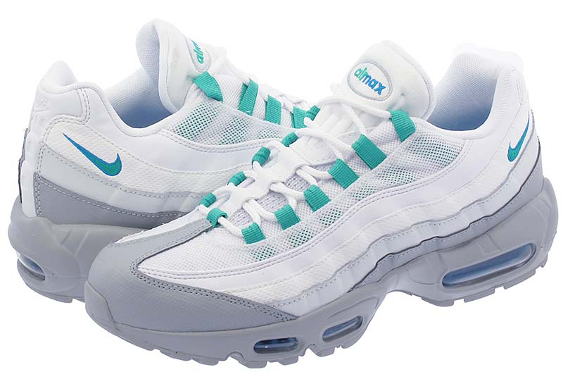 NIKE AIR MAX 95 ESSENTIAL [LIGHT PUMICE / CLEAR EMERALD / WHITE] 749766-032